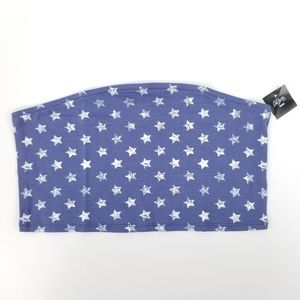 City Streets All Over Stars Bandeau Top Jrs Large